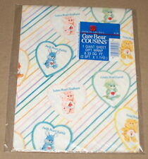 "American Greetings ""Care Bear Cousins"" Gift Wrap NIP Rabbit Elephant Lamb +"