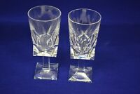 Lot of 2 Pasabahce quality cut crystal wine glasses - Turkish 6 1/2""