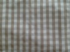 Laura Ashley Cream/Oatmeal Check Tablecloth cotton /180x140cm/ NEW / Handmade