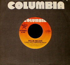 """WILLIE NELSON """"I LOVE YOU A THOUSAND WAYS/Mom & Dad"""" Columbia 10588 (1977) 45rpm"""
