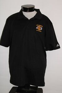 LA Los Angeles LAKERS Mens XL X-Large ADIDAS Embroidered Polo shirt