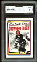 1990 O-Pee-Chee OPC #3 Crowning Glory Wayne Gretzky Graded GMA 9 MINT ~ PSA 9 ?