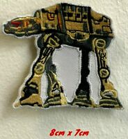 Star Wars AT AT art badge Embroidered Iron on Sew on Patch