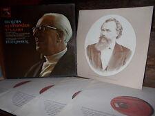 BRAHMS: 4 symphonies + 2 overtures > London PO Jochum / EMI stereo France 4 LPs