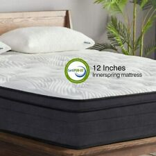 Sweetnight King Mattress in a Box - 12 Inch Plush Pillow Top Hybrid Mattress Gel