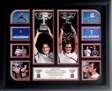Roger Federer Signed 2018 2017 Australian Open Limited Edition Memorabilia Frame