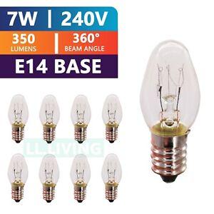 7W E14 Lamp Globe Himalayan Salt Bulbs Selenite Light Night Replacement 4/12Pcs