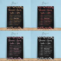 Personalised Wedding Order of Service Chart | Order of Event Sign A1 A2 A3