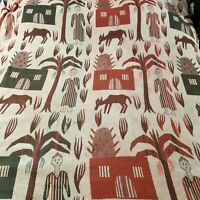 Vintage Cannon Royal Family Dual King Size Tribal Rustic Wool Blanket Bedspread