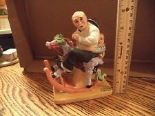 Norman Rockwell Signed Porcelain Gramps at the Reins Figurine Danbury Mint 1980