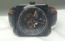 Stuhrling Black Raven Diablo Square Automatic Skeleton Watch 42mm B&R Inspired