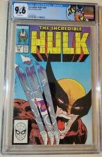 The Incredible Hulk # 340 CGC 9.6 WP Wolverine! Custom Label