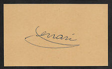 Enzo Ferrari Autograph Reprint On Genuine Original Period 1920s 3X5 Card