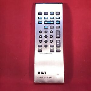Genuine RCA (CRK50A CRK50E) Silver TV Digital Remote Control With Battery Cover