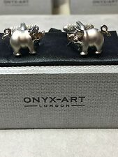 Piggy Cufflinks by Onyx Art. London