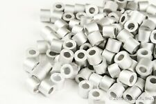 """100 - Ferrule Stops Only 3/16"""" Aluminum Cable Snare Wire Swage Trap Line End"""