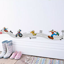 Mickey Mouse Racing Track Wall Decal Cartoon Vinyl Sticker Decor Kids Room Mural