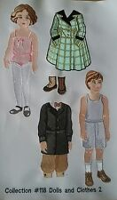 Viking Sewing Embroidered Paper Dolls kids fabric Uncut #2