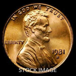 1981-D Lincoln Memorial cent penny - Beautiful GEM BU Quality!