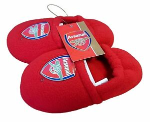 Arsenal Football Club Team Toddlers Red first Slippers 4/5  Boys Girls Kids NEW