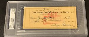1962 Floyd Patterson Signed Check PSA/DNA Autographed While Champion Super Rare
