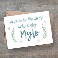 Tarjeta personalizado hecho a Mano Nuevo Bebé Niño O Niña, Sobres Incluido