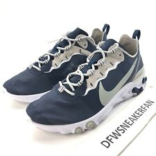 Nike React Element 55 Dallas Cowboys Men's 10.5 Navy Blue Shoes CK4801-400 New