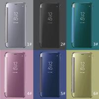 BNIB Transparent Mirror Flip Case Cover Samsung Galaxy S8/S8+ Apple IPHONE 6 7 8