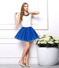 Women Girls Dancewear Tulle Tutu Mini Ballet Pettiskirt Princess Party Tee Skirt