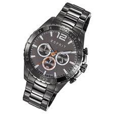 Esprit Uhr Aiden Schwarz Quarz Chrono sportlich gun color ES108351001 NEU OVP