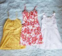 MEDIUM women's cute summer dress bundle yellow pink white floral lace sleeveless
