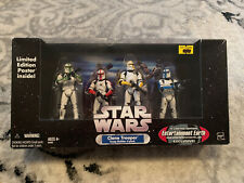 Star Wars Clone Trooper Bulider 4 pack Entertainment Earth Exclusive Battle Dmgd