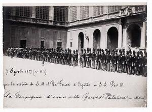 Rome Gelatin silver portrait of the guard of honor 1927c Photo Lotti L367