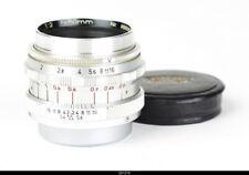 Lens  Steinheil Quinon 2/50mm No.988086    for Leica Screw 39 Leica M   Mint -