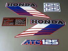 ATC 125m Honda Stickers Set Warning Advice Vintage Trike 1986 Sticker/Decals