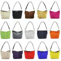 Womens Italian Real Suede Shoulder Bag Ladies Messenger Crossbody Handbag New UK
