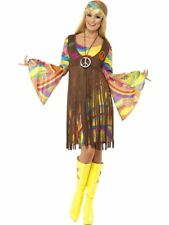 Adult 60s 70s Groovy Lady Hippy Flower Power Womens Ladies Fancy Dress Costume Extra Large
