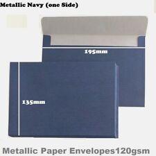 10/20x A5 Envelopes 120gsm Metallic Navy Large Envelopes  135 x195mm
