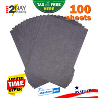 100Psc Graphite Transfer Paper Sheets Tattoo Stencil Carbon Tracing Paper Black