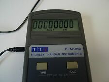 Frequency Meter Thurby Thandar PFM1300 w/t Power Supply TTI Lab Counter BNC