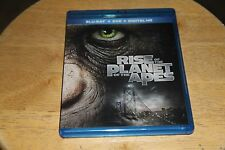 RISE OF THE PLANET OF THE APES LIKENEW BLU-RAY + DVD + digital code/uv DISC MINT