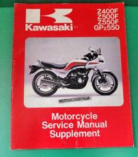 KAWASAKI GPZ 500 Z400 Z550 manuale officina supplement owner's service manual