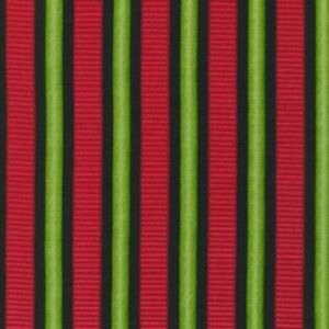 Scarlet's Garden/Stripe by Debbie Beaves Cotton Fabric,Sold by the Yard by