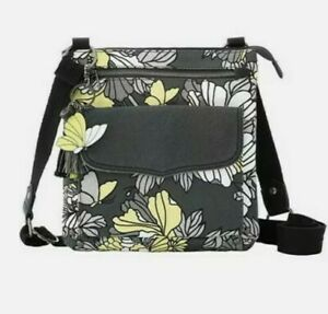 Sakroots crossbody handbag Women's Swing Pack Slate Flower Blossoms Size Medium