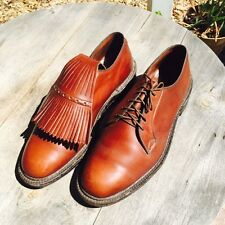 Rare Vintage Abercrombie & Fitch Brown Leather Golf Shoe Derby Oxford Sz 9.5
