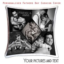 ❤Fathers Day Personalised Photo Cushion Cover  Collage picture template-Dad-02 ❤