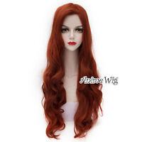 Long Reddish Brown Halloween 80cm Heat Resistant Party Cosplay Hair Wig + Cap