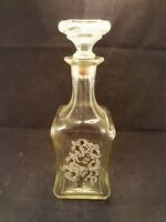 Vintage Whiskey Decanter Old Fitzgerald Clear Glass Bottle