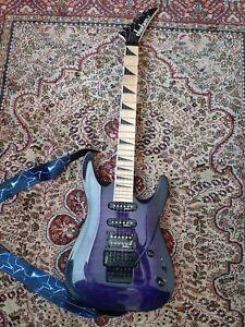 Jackson Dinky JS32Q Arch Top Guitar Trans Purple Burst plastic still attached A+