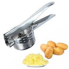 Home Potato Masher Ricer Fruit Juicer Vegetable Press Metal Stainless Ste;